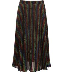 michael michael kors multicolor monogram skirt