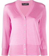 dolce & gabbana lightweight knit cardigan - pink