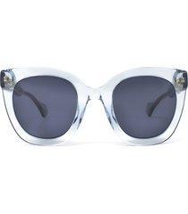 gucci gucci gg0564s light blue sunglasses