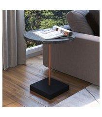 mesa para sala de estar artesano lateral marquina com cobre