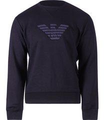 emporio armani sweatshirt blue navy