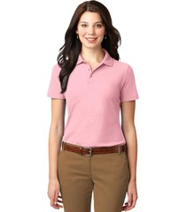 port authority l510 ladies stain-resistant polo shirt - light pink
