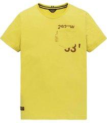 t-shirt peach geel