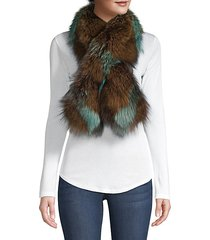 fox fur pull-through camo scarf