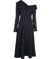 3.1 phillip lim off-the-shoulder striped dress - blue