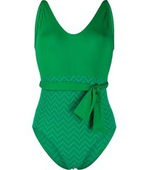 eres satin tank one-piece swimsuit - green