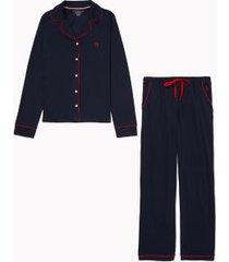 tommy hilfiger women's monogram pajama set navy blazer - xxl