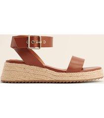 na-kd shoes jutesandaler med spänne - brown
