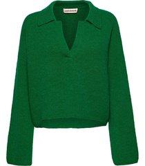 marylou stickad tröja grön custommade
