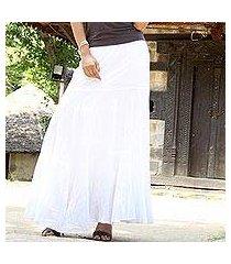 cotton skirt, 'lucknow princess' (india)