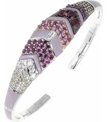 oui pink enamel bracelet