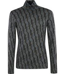 prada patterned turtleneck knit sweater
