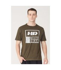 camiseta hd estampada verde musgo