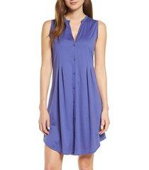 women's hanro jersey short nightgown, size x-large - blue