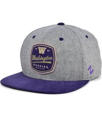 zephyr men's washington huskies montpelier snapback cap