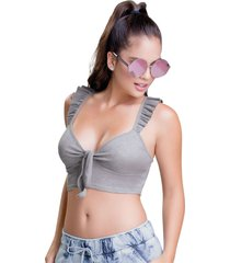 blusa gris atypical
