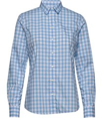 the broadcloth gingham shirt långärmad skjorta blå gant