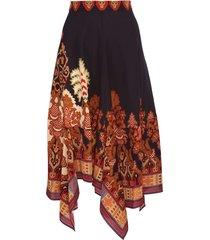 asymmetric etro skirt