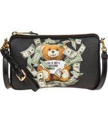 borsa donna a spalla shopping dollar teddy bear