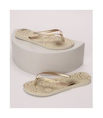chinelo feminino havaianas slim party bege