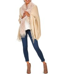 two's company gatsby glamour trimmed cape with tassels