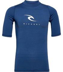 corps s/sl uv t-shirts short-sleeved blå rip curl