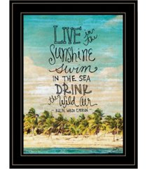 """trendy decor 4u live in the sunshine by misty michelle, ready to hang framed print, black frame, 15"""" x 19"""""""