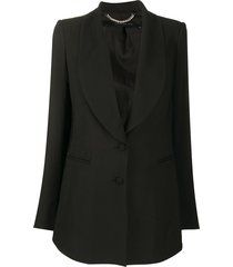federica tosi loose-fit single-breasted blazer - black