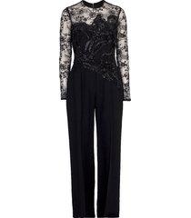 illusion lace top jumpsuit