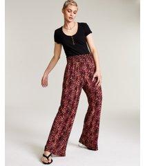 bar iii printed wide leg pants, created for macy's
