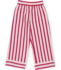 monnalisa striped palazzo trouser