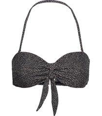 printed bandeau knot top bikinitop grå filippa k