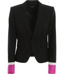 tropical stretch wool cropped los angeles blazer