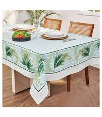 toalha de mesa quadrada lepper lu estampada 140x140cm verde água