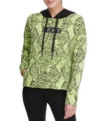 dkny sport snake-print hoodie