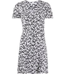 calvin klein jeans peony print mini dress - white