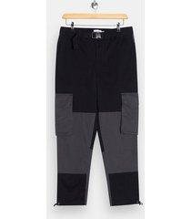 mens khaki black belted cargo pants