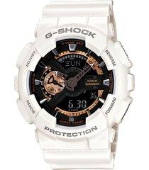 reloj g shock ga_110rg_7a blanco resina