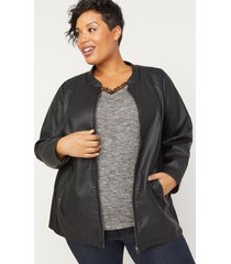 shaw heights vegan leather jacket