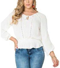 blusa austria blanco para mujer croydon