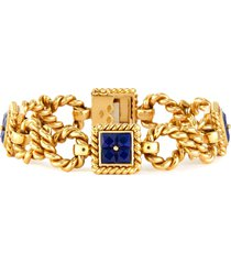 bulgari lapis 18k gold bracelet
