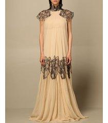 alberta ferretti dress alberta ferretti long dress in silk with embroidery