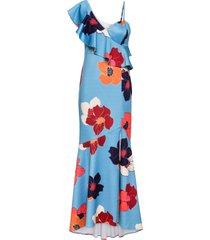 abito monospalla a fiori (blu) - bodyflirt boutique