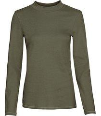 shirt met opstaande kraag, olijfgroen 46