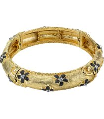 2028 gold-tone stretch bracelet