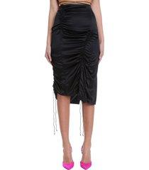 helmut lang skirt in black silk