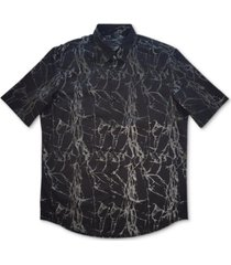 alfani men's printed woven shirt, created for macy's