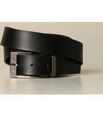 armani exchange belt armani exchange belt in saffiano leather