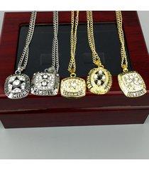 dallas cowboy super bowl championship necklace set 1971,1977,1992,1993,1995
