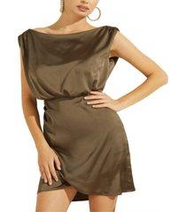guess yonna draped dress